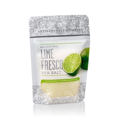 Lime Fresco Salt - 4 oz Zip Top Pouch - Fusion Flavored Sea Salt