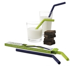 U-Konserve Silicone Straws (2-pack) Lime + Navy