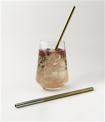 U-Konserve Stainless Steel Straws (2-pack) Gold Accents