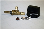 G50010144 Smoker Burner Gas Valve and Knob Natural Gas