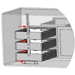 LMD-KIT Modular Drawer Kit - Allows you to stack model LMD 2 or 3 high