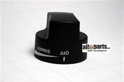 PB010284 Top Burner Knob Black