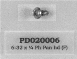 PD020006 SCREW, 6 X 1/4 HEX WASHER HD Viking