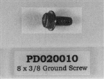 PD020010 10 X 3/8 GREEN GROUNDING SCREW