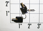 PW200056 KEYS FOR UNDER COUNTER WINE COOLERS SUB FROM PS100061 SET OF 2 KEYS