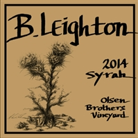 B. Leighton Olsen Brothers Vineyard Syrah 2016 (Yakima Valley, Washington) -  [JD 96] [JS 96] [AG 93]