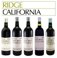 04/17/10 - California's Legendary Ridge Vineyards Tasting - Taste Four Highly Rated Ridge Zins & Their Iconic Monte Bello Bordeaux Blend
