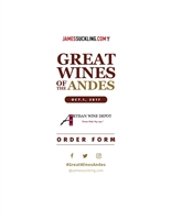 "2017 James Suckling ""Great Wines of the Andes"" Order Sheet"
