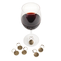 Chateau Varietal Metal Wine Charms by Twine (Set of 6)