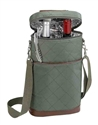 "Primeware ""Brandy"" Olive Green 2-Bottle Insulated Wine Tote"