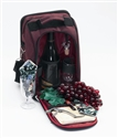 "Primeware ""Del Mar"" Burgundy Insulated Wine Tote"