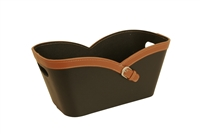 Wald Imports Caramel Faux Leather Buckle Tote