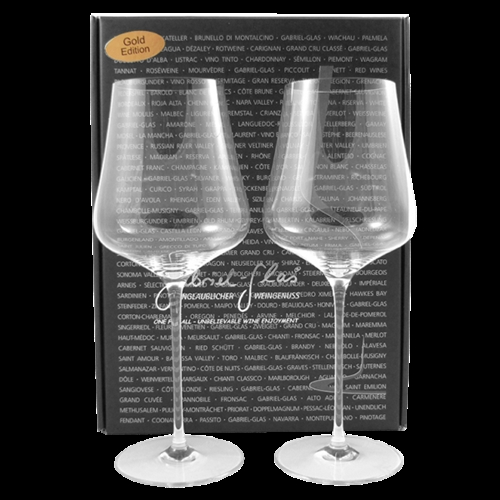 All In Glas.Gabriel Glas One For All Gold Edition Two Glass Gift Box