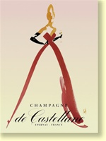 """Champagne de Castellane"" 16"" x 20"" Giclee Print on Canvas"