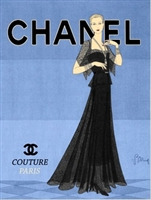 """Chanel Black & Blue"" 16"" x 20"" Giclee Print on Canvas"