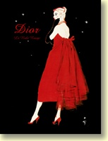 """Dior La Robe Rouge"" 16"" x 20"" Giclee Print on Canvas"