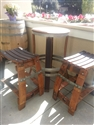 Rewined Designs Bistro Table Patio Set (1 Table And 2 Stools) Wine Furniture