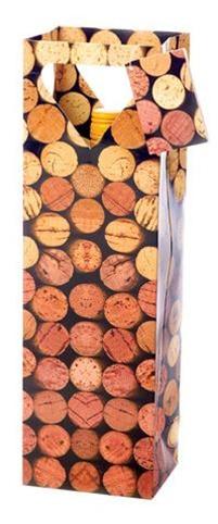 True Fabrications 1 Bottle Corks Wine Bag