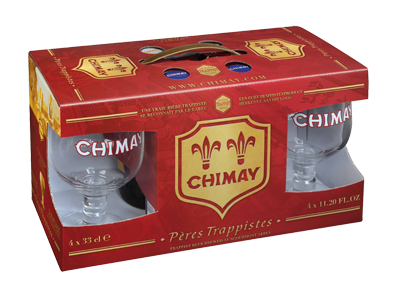 6c2d8e8ad46 Chimay Sampler 4-Pack Gift Pack with 2 Goblet Glasses (4x330mL)