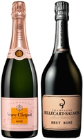 [TWO-PACK COMBO] Billecart-Salmon & Veuve Clicquot Brut Rose Champagne N.V.