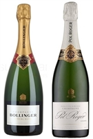 [FOUR-PACK COMBO] Bollinger Special Cuvee & Pol Roger Extra Cuvee Reserve Champagne N.V.