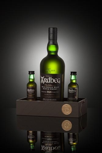 "Ardbeg ""Exploration Pack"" 10 Year Islay Single Malt Scotch Whisky Gift Set with Uigeadail and Corryvreckan Miniatures"
