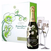 Perrier Jouet Belle Epoque Brut Champagne 2011 With Two Flutes (Champagne, France) - [WE 94]