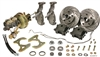 CPP 1955-57 Chevy Drop Spindle Complete Front Brake Kit