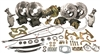 CPP 1955-57 Chevy Complete Front & Rear Disc Brake Kit - Drop Spindles