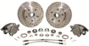 CPP 1955-57 Chevy Complete Front & Rear Disc Brake Kit - Orginal Spindles