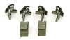 1955-1957 Chevy Gas (or Fuel) and Brake Line Frame Clips, Inside Frame, 6 Piece Set