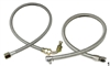 1955-1957 Chevy Rack and Pinion Power Steering Hose Kit, Braided Stainless, Saginaw Pump