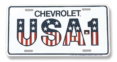 USA-1 License Plate