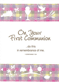 prayer card for first communion