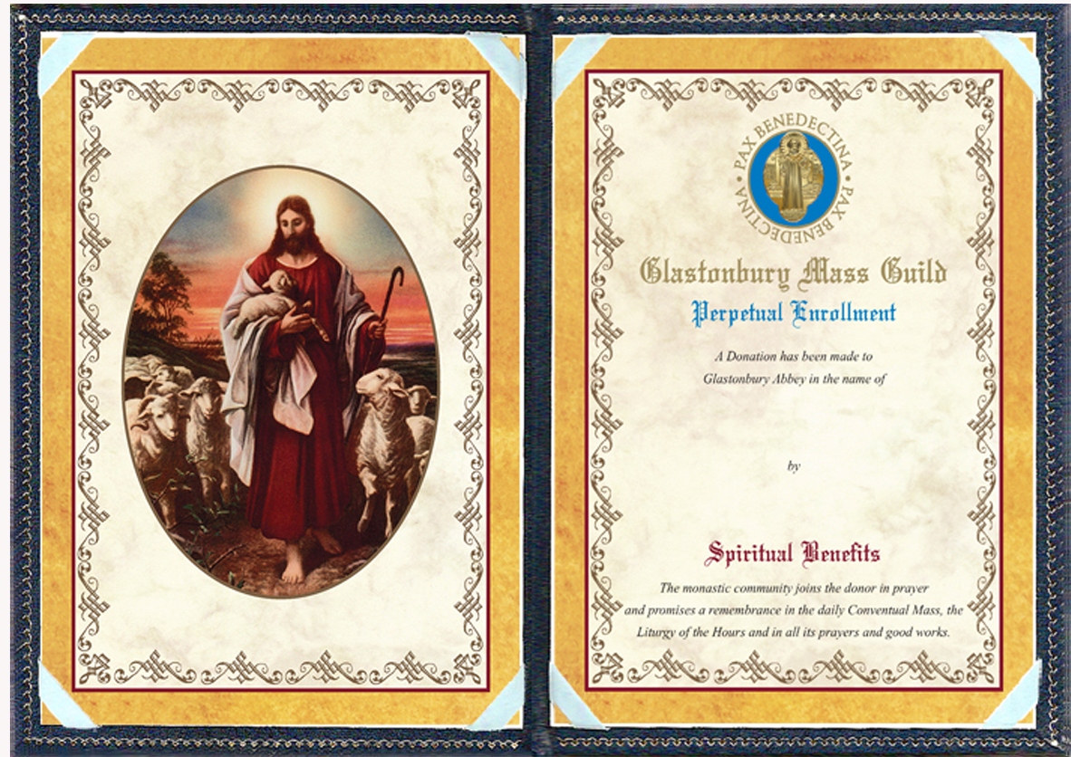 jesus the shepherd perpetual spiritual enrollment card