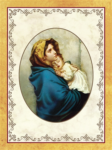 madonna of the streets painting perpetual spiritual enrollment card
