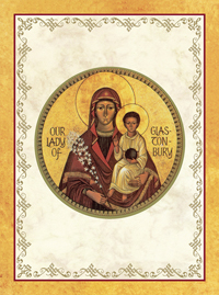 our lady of glastonbury painting perpetual spiritual enrollment card