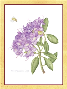purple rhododendron on white background perpetual spiritual enrollment card