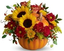 Pretty Pumpkin Bouquet Flowers