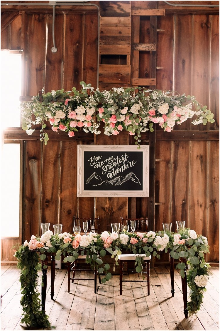 Pale Pink And White Rustic Wedding