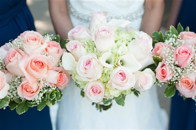 Pale Pink and White Wedding