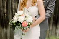 Natural Whites and Corals Wedding