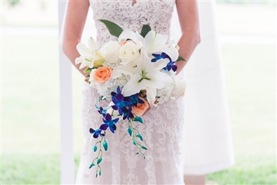 Blue, Peach and White Wedding