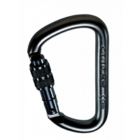 CAMP Steel D Lock Carabiner - Black