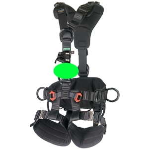 CAMP ACCESS ANSI Fullbody Rope Access Harness WITH OPG TURBO CHEST KIT Black Large - XXL