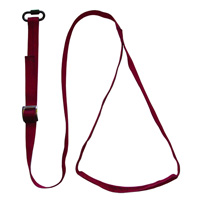 aSTEP Foot Loop For Climbing Ascenders Burgundy with screwlink