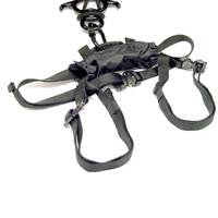 A compact rappel kit designed specifically for use with police interceptor vehicles.
