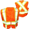 OPG Adjustable High Visibility Orange 5 Point Class 2 Tear-Away Vest with Full Mesh Body