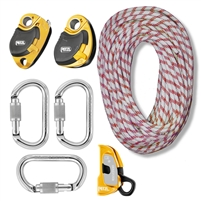 zRig Pro 4 Piggyback Rope Haul System  3 to 1 / 4 to 1 Mechanical Advantage with Progress Capture
