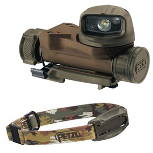 Petzl STRIX VL tactical headlamp  camo